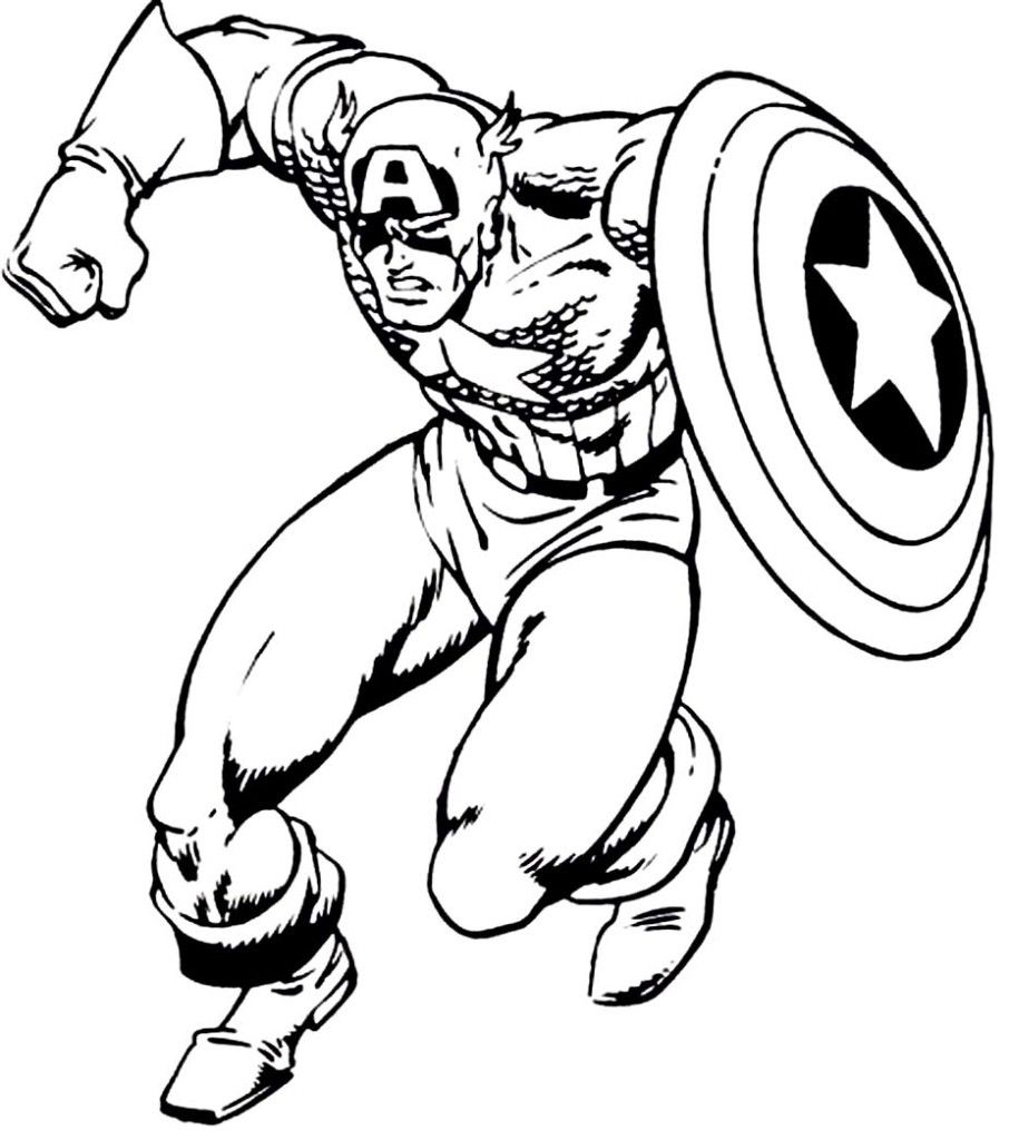Free Captain America Coloring Pages With To Print Archives ...