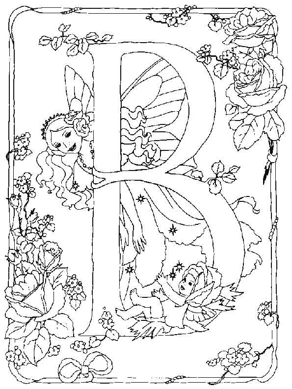 Elfje Alfabet B Fairy Coloring Pages Fairy Coloring Alphabet Coloring Pages