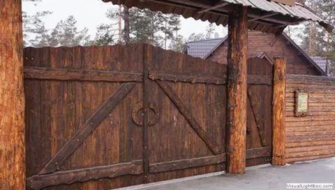 деревянные ворота под старину фото 15 тыс изображений