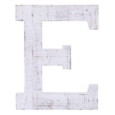 Gracie Oaks Wood Block Initial Letter Block Letter E  Letter