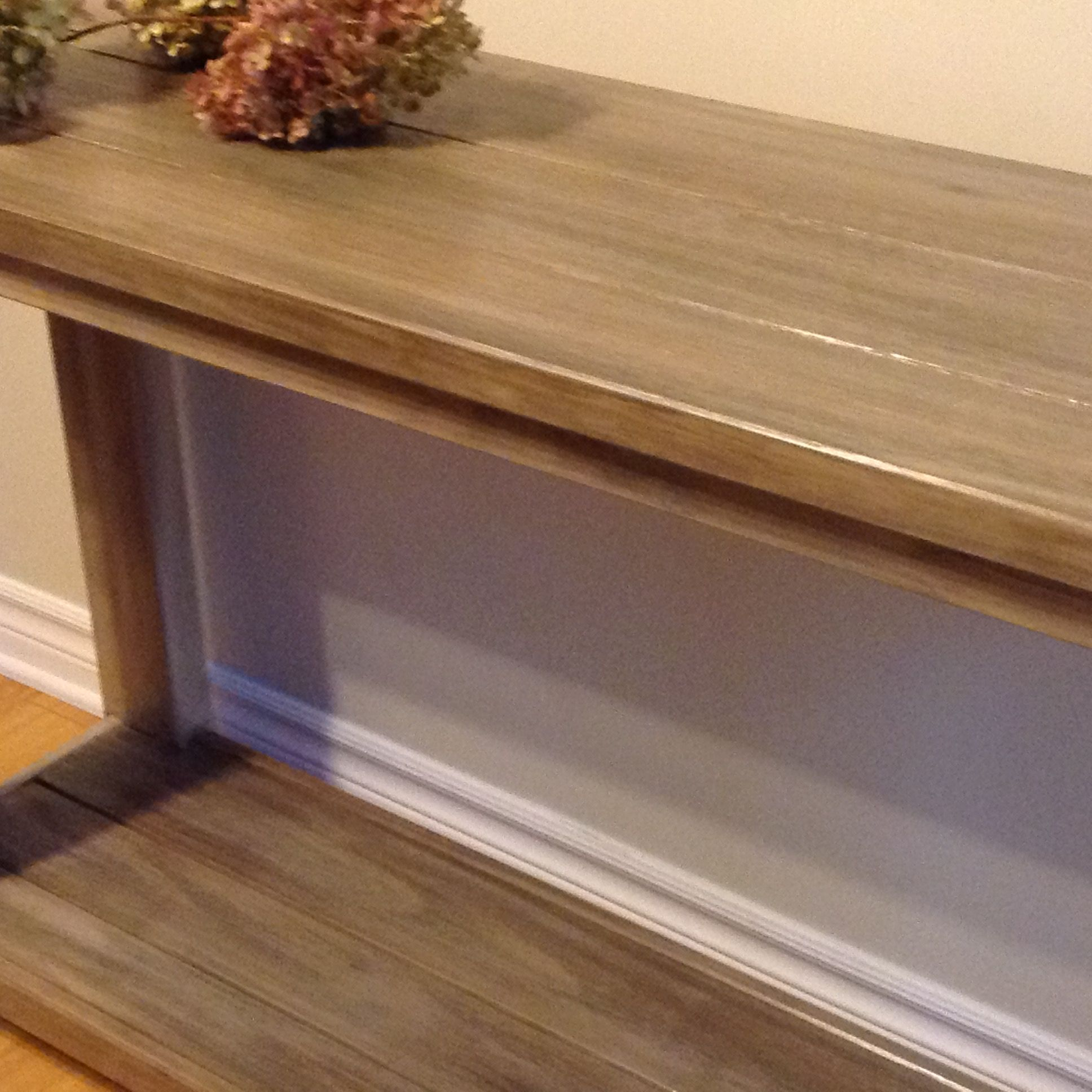 Ikea Pine Console Table Was Perfect Base For Barn Wood Finish Used