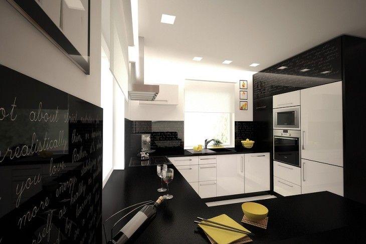 Czarno Biala Kuchnia Home Home Decor Kitchen