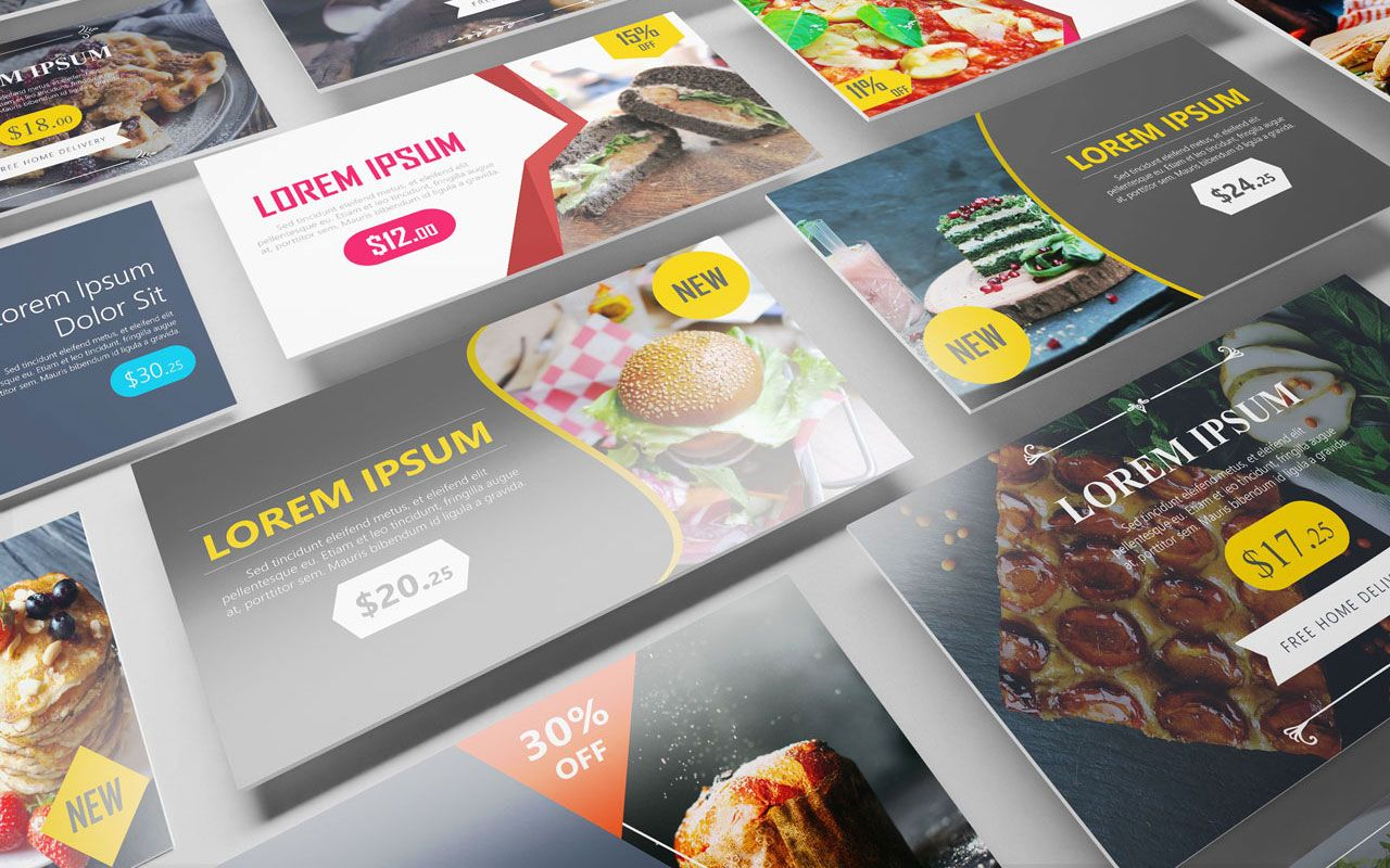 new free digital signage powerpoint template available: advertise, Modern powerpoint