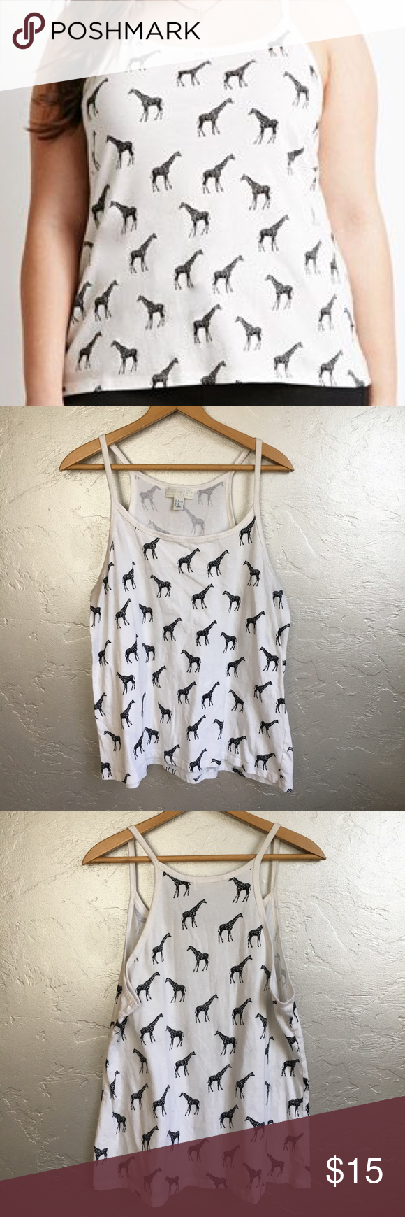 ac590b16460 Forever 21 Plus Giraffe Tank Giraffe print tank top from forever 21 plus.  Size 1X. In good used condition