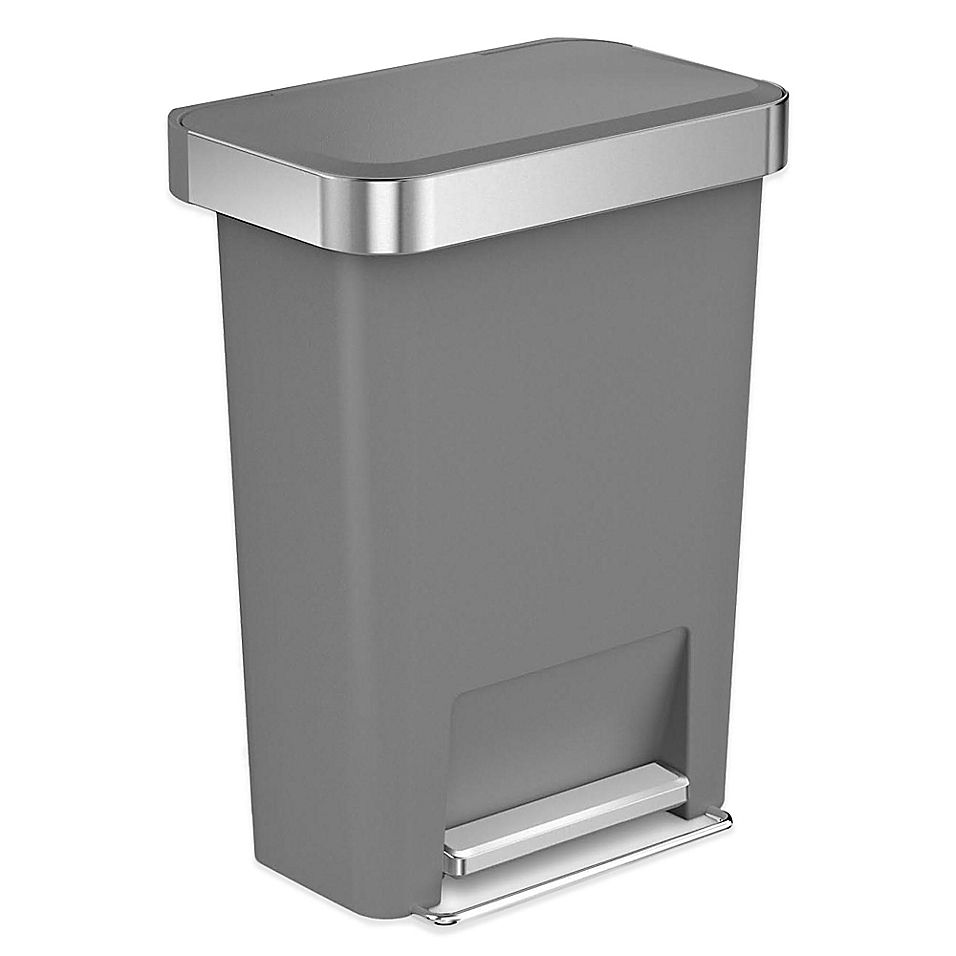 Best Simplehuman 45 Liter Plastic Rectangular Step Trash Can 400 x 300