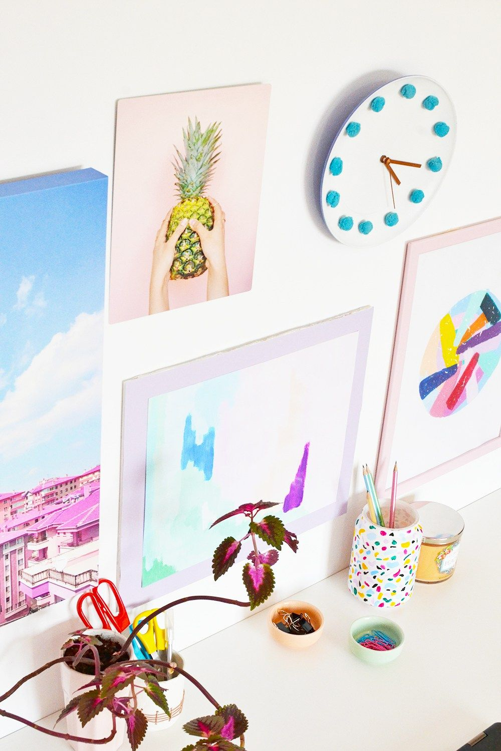 DIY Colorful Poster Frame + Wall Gallery with Mixbook | Wall ...