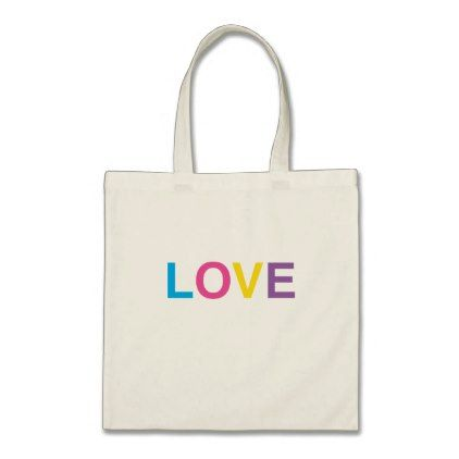 Tote Bag LOVE in Colorful Letters - baby gifts child new born gift - gift letters