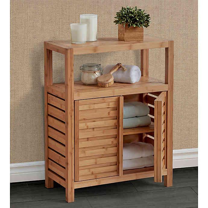Haven No Tools Bamboo Floor Cabinet Bed Bath Beyond Decoracao Do Banheiro Mobiliario De Bambu Decoracao De Casa Reciclada