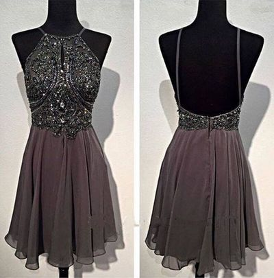 Spaghetti Straps Homecoming Dress,Beading Homecoming Dress,A-Line ...