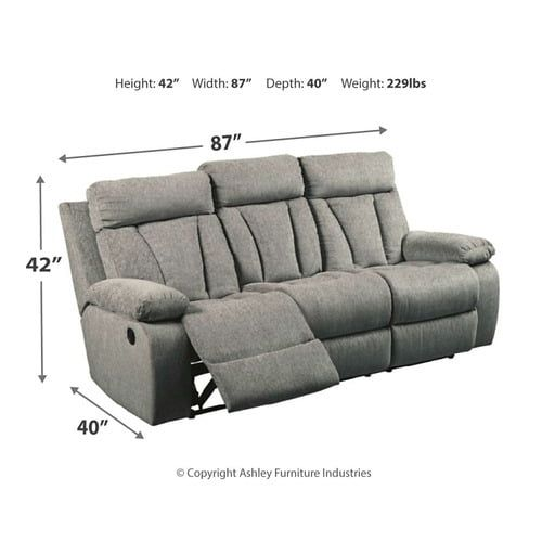 7620489 In By Ashley Furniture In Garland Tx Mitchiner Reclining Sofa With Drop Down Table In 2020 Reclining Sofa Drop Down Table Ashley Furniture