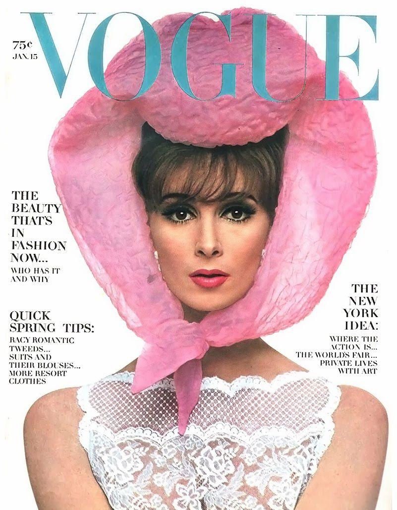 Lilly Daché - Chapeau 'Foulard' - Wilhelmina -  Magazine Vogue - 1964