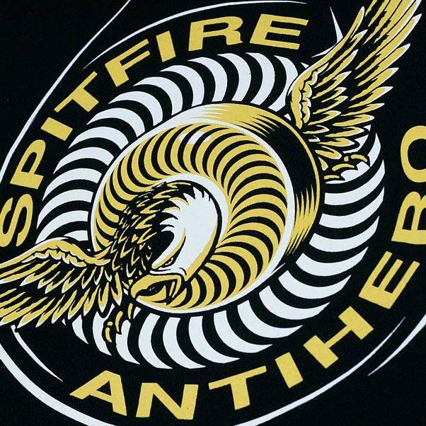 fb09a5ca65e Spitfire x AntiHero Classic Eagle T-Shirt Black