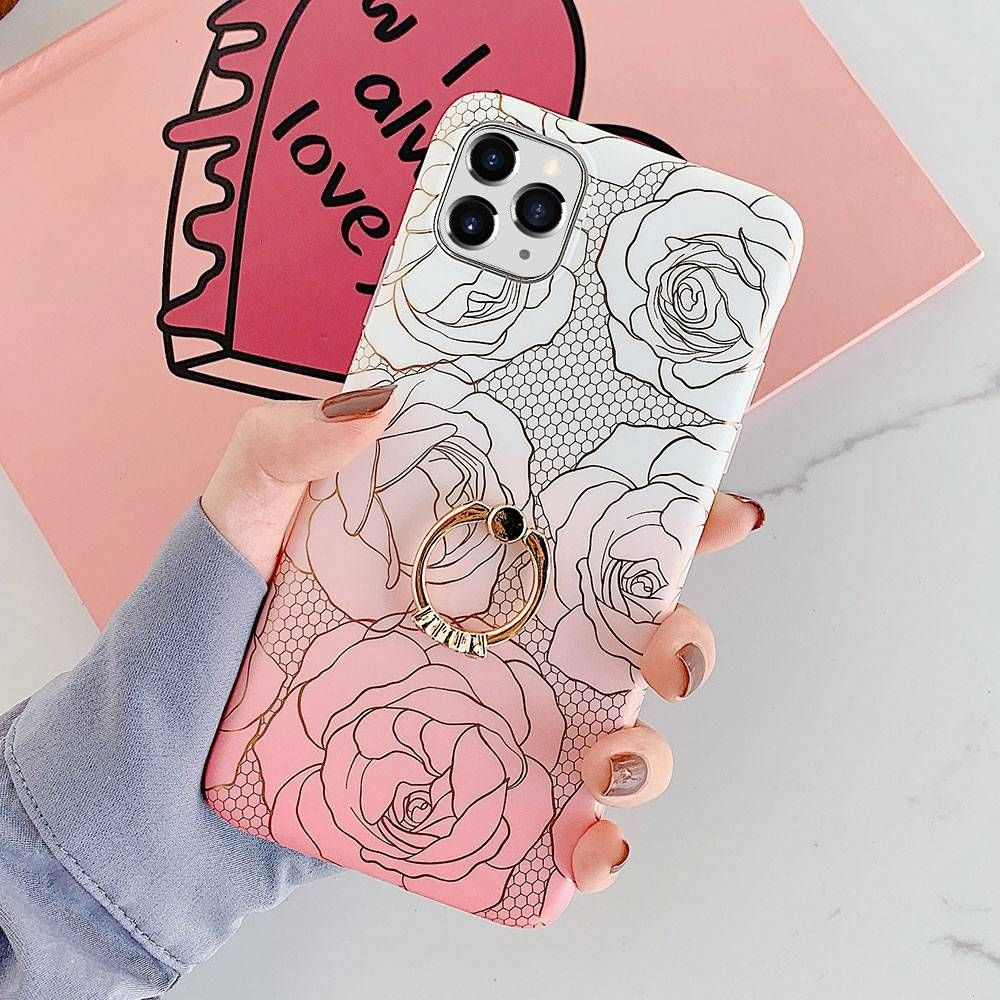 Luxury Gold Plating Rose Flower Leaf Phone Case For iPhone 7 6 6S 8 Plus X XS Max XR 11 Pro Max Silicone Soft TPU Cover 795 only