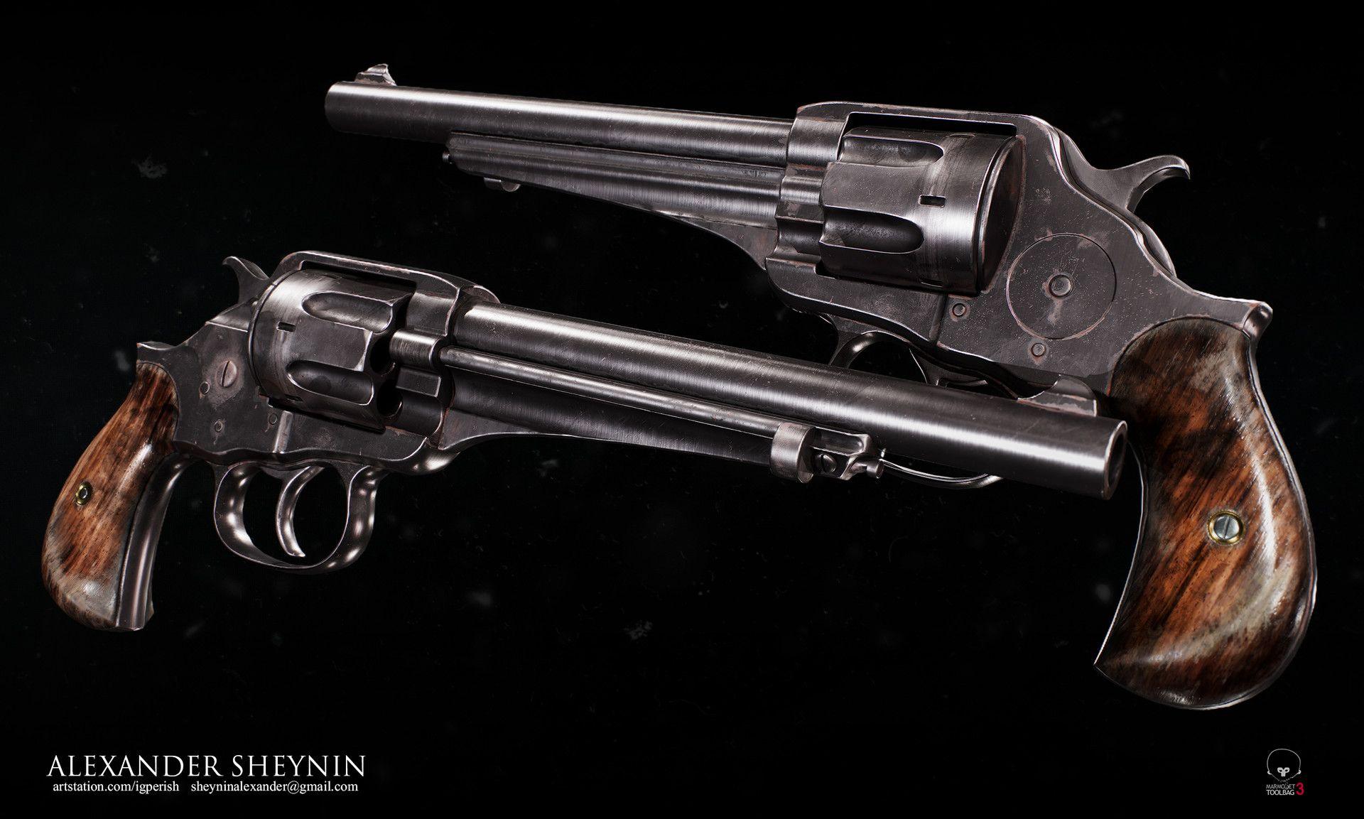 ArtStation - Revolver, Alexander Sheynin | Gun stuff | Guns