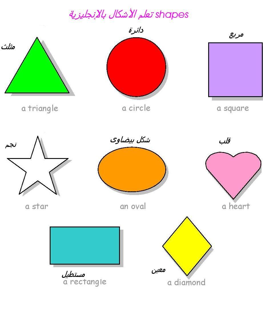 من كل بستان وردة تعليم الألوان والأشكال بالإنجليزية بالصور للأطفال والمبتدئين Colors And Shapes Geometric Shapes Shapes Geometric