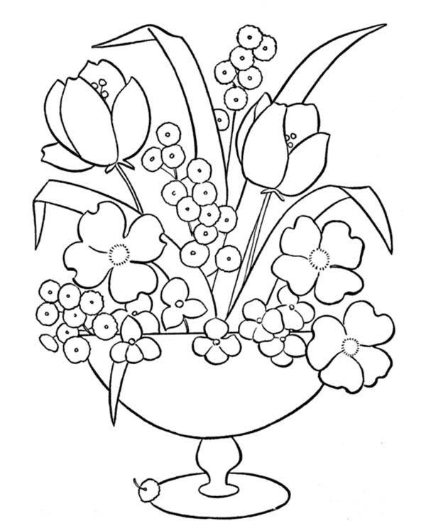 Dibujos Para Colorear Floreros 4