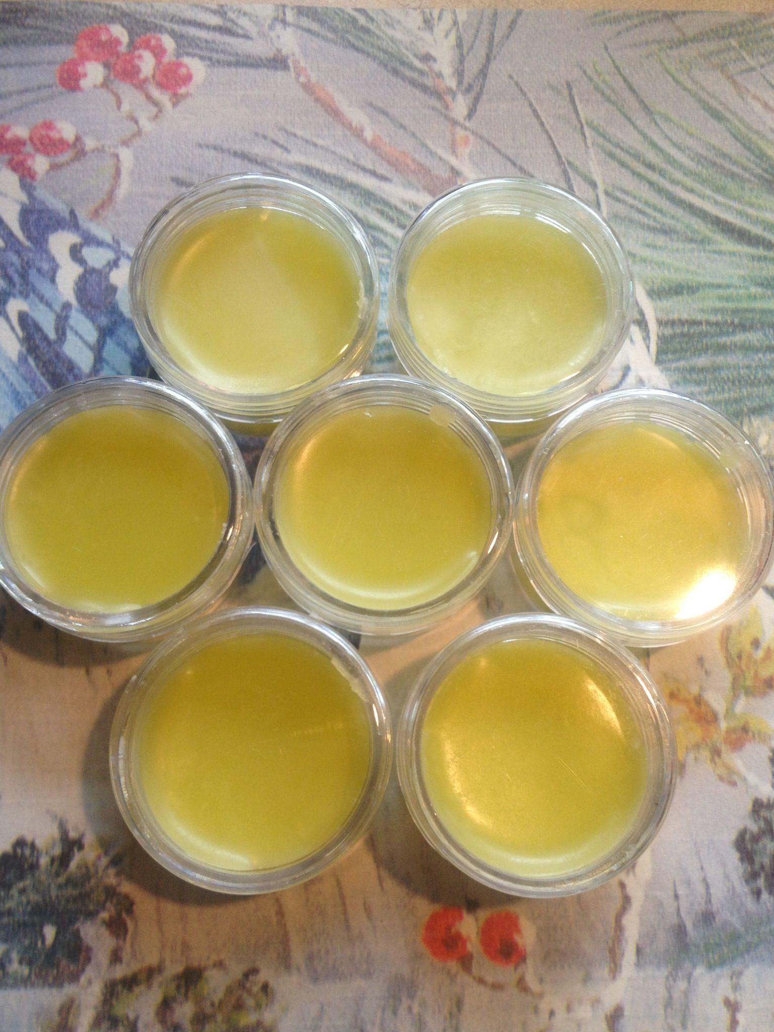 Home made lip balm contains 1 12 parts olive oil 1 part