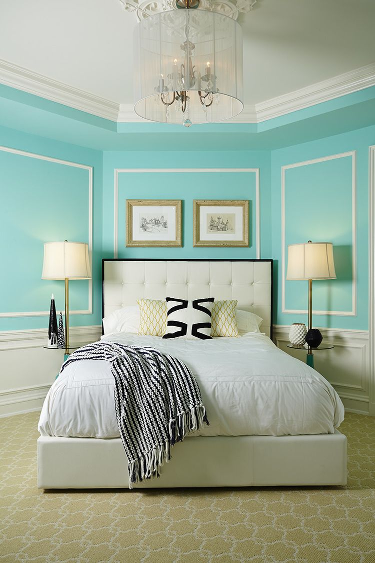 Discovering tiffany blue paint in 20 beautiful ways - Blue bedroom paint ideas ...