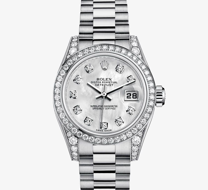 Rolex Oyster 26mm 18 Ct White Gold And Diamonds Lady Datejust Watch An Emblematic Classic That Never Goes Out Of Style Love Rolex Rolex Women Watches