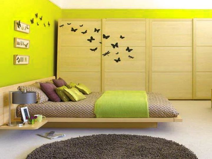 Fancy Colour Shades For Bedroom Walls Motif - All About Wallart ...