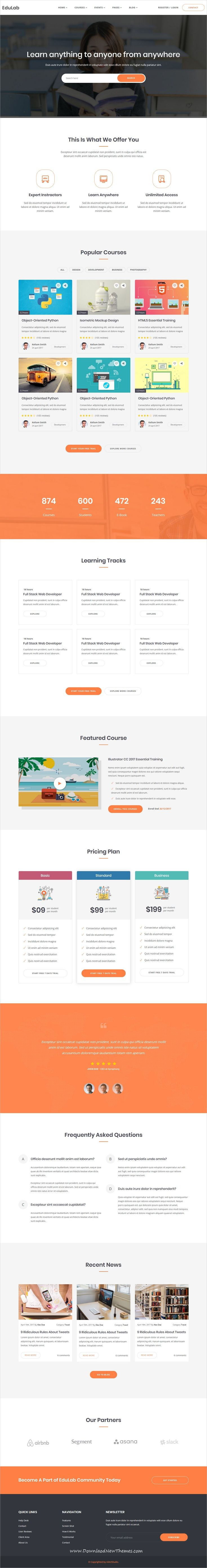 edulab is clean and modern design 2in1 responsive bootstrap html5