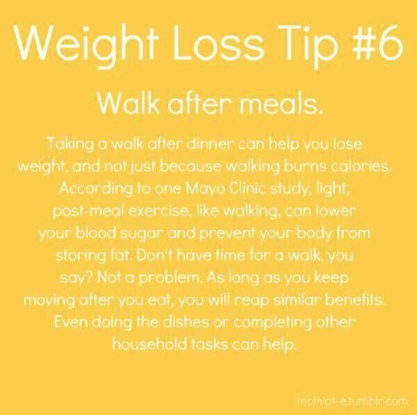 Move after meals!