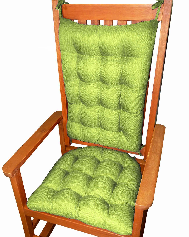 Rave Pear Green Porch Rocker Cushions Latex Foam Fill Fade