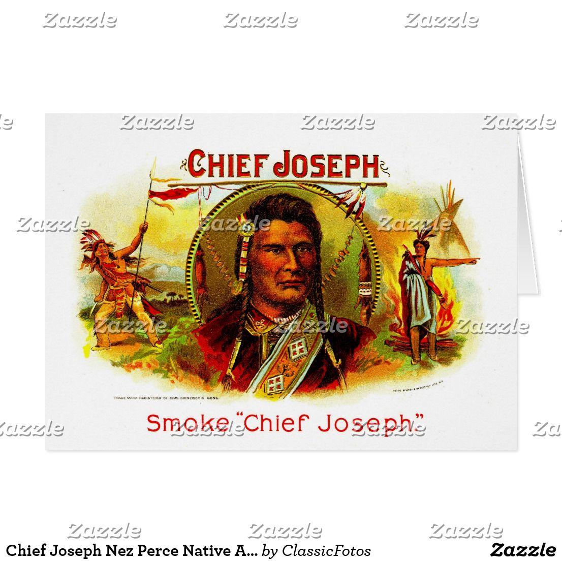 Chief Joseph Nez Perce Native American Cigar Art Card Cigar Art