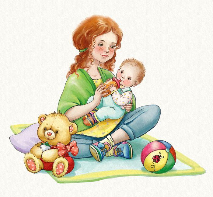 Картинка про маму для детей, картинки надписями бугага