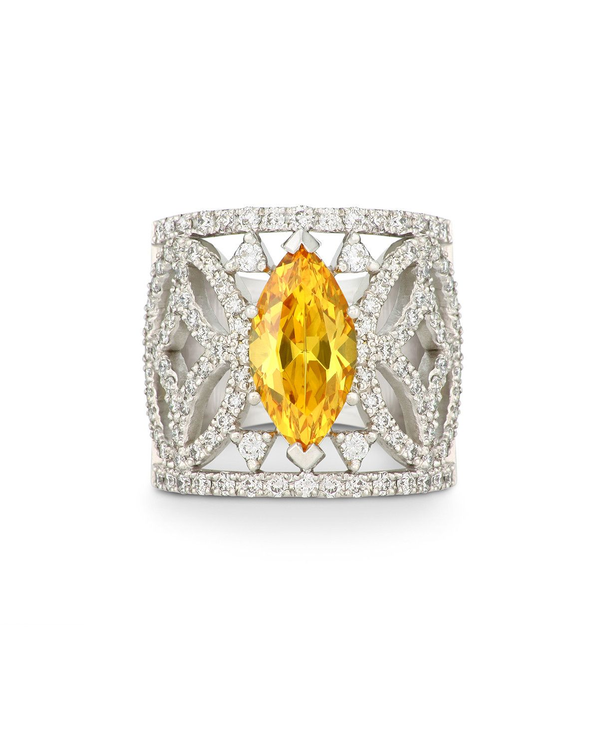 3aa6b8ca9 The first Autumn glow - our beautiful citrine, 18ct white gold and diamonds  Zuri Ring – Jenna Clifford