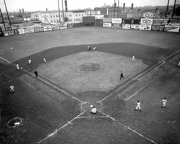 Old Baseball Photos On Twitter Nicollet Park Minneapolis 1954 Home To The Minneapolis Millers Of The American A Ballparks Baseball Photos Baseball Stadium