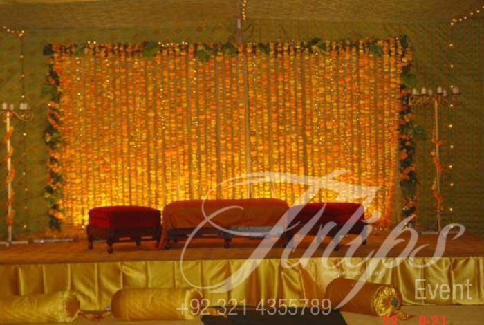 Tulips Event   Best Pakistani Wedding Stage Decoration Flowering For Mehndi  Walima Barat Stages Décor Services