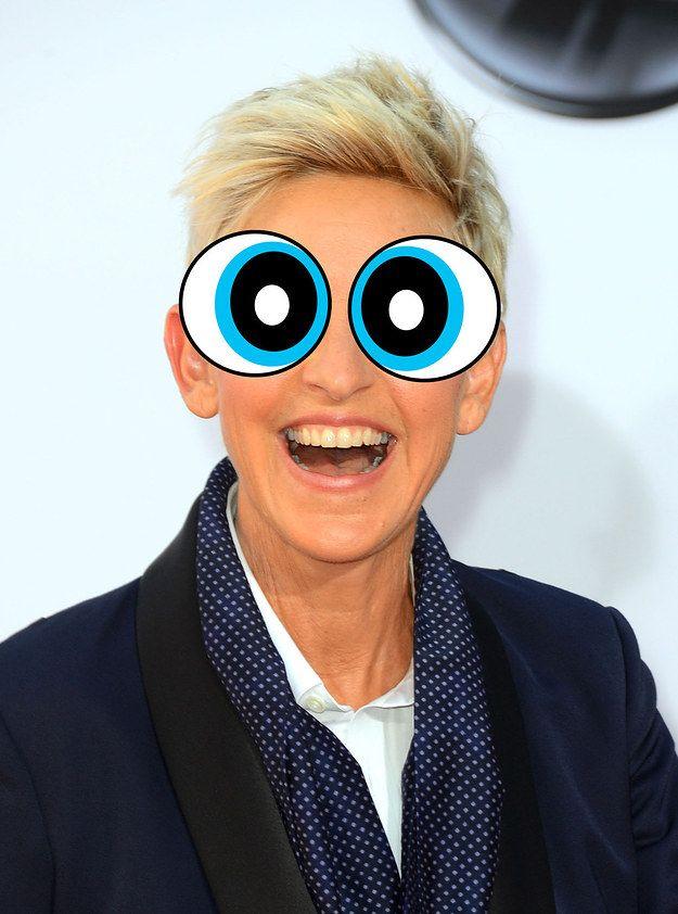 Ellen DeGeneres   12 Celebrities With Powerpuff Girl Eyes