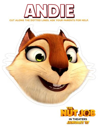 the nut job free printable craft andie mask