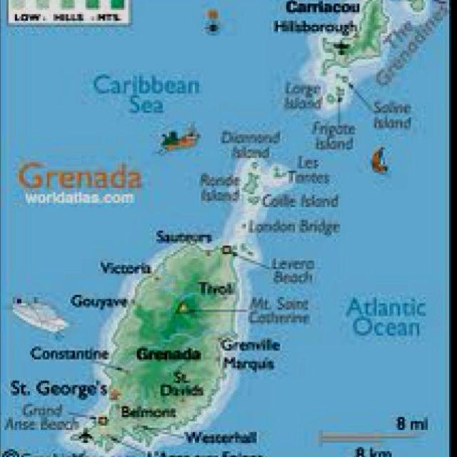Beauty Grenada Map Grenada Grenada Island