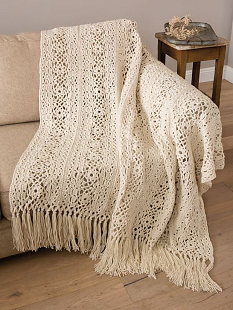 Irish Lace Blanket Free Crochet Pattern Will Add Elegance To Your Room