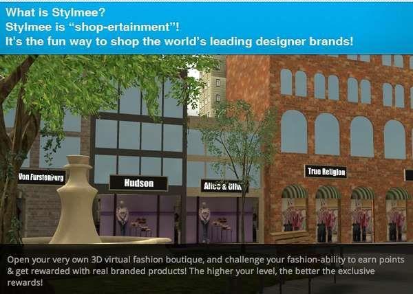 Boutique Simulation Games Branding Design Virtual Fashion Contemporary Interior Design