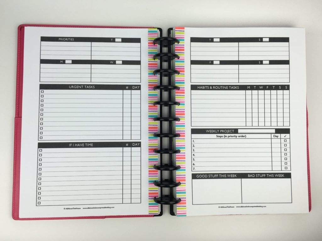 Planning With A Functional Minimalist Diy Weekly Planner