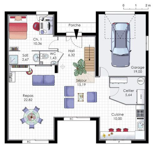 maison familiale 9 plan maison house floor plans et home. Black Bedroom Furniture Sets. Home Design Ideas