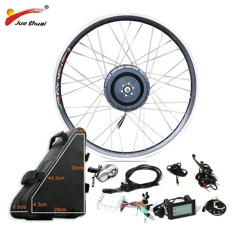 Ebike Motor Wheel Conversion Kit 20 26 48V 1000W 1500W Electric Snow Fat Bicycle