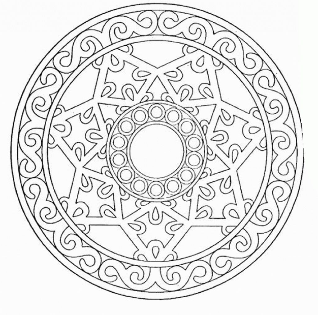 Free Online Coloring Sheet Of Geometric Pattern To Print Letscolorit Com Geometric Coloring Pages Mandala Coloring Books Mandala Coloring Pages