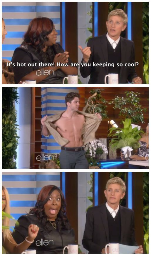 Ellen is not amused