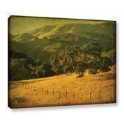 'Oak And Fence' by William Guion Painting Print on Wrapped Canvas