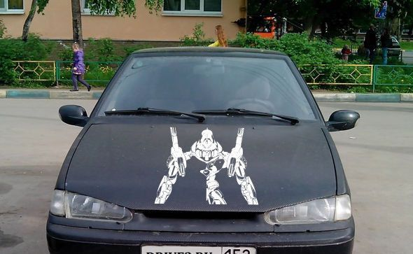 Anime car decal car decal sticker transformer car vinyl anime vinyl 10216 2