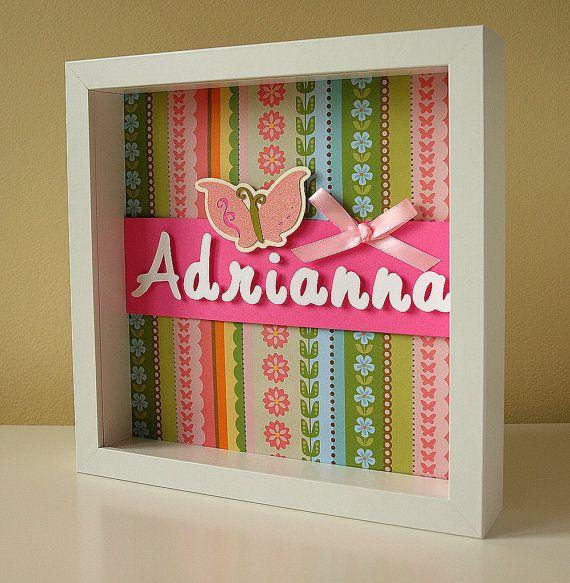 Butterfly Nursery Decor - Personalized Children\u0027s Art - Girl\u0027s Room