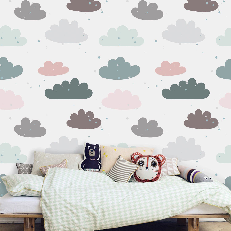 Tapete, Fototapete, Kinderzimmer, Babyzimmer, Wolken