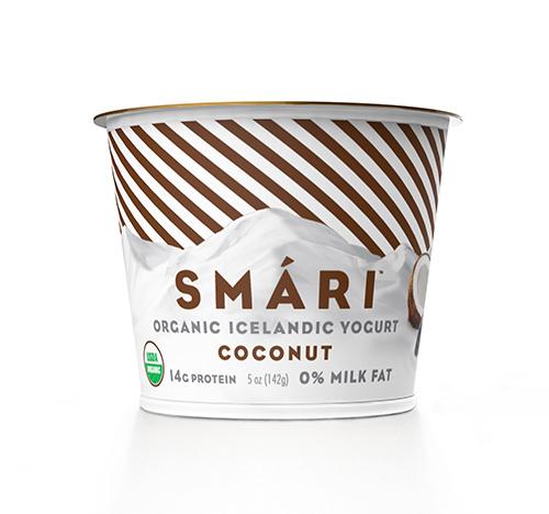 Smari Organic Icelandic Yogurt: Coconut 0% Milkfat.  Not afraid of your puny spoon.