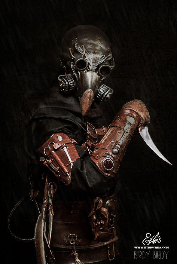 steampunk plague doctor arkan by ethis crea wwwethiscrea