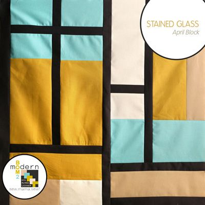 All-New Modern Block of the Month (BOM) Sew-Along: April Stained Glass Quilt Block « Sew,Mama,Sew! Blog