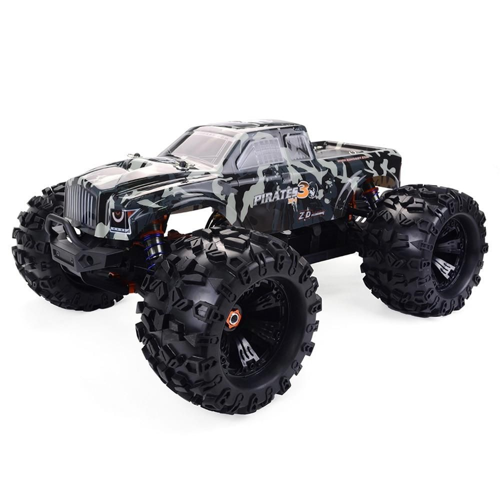1 8th Scale Zd Racing Mt8 Pirate 3 Monster Truck 120a Brushless Waterproof Esc Rtr In 2020 Rc Monster Truck Monster Trucks Brushless Rc Cars